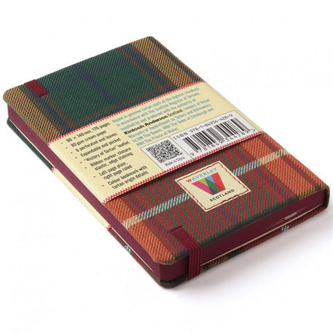 Tartan Cloth Commonplace Notebook in Buchanan Tartan by Waverley Books
