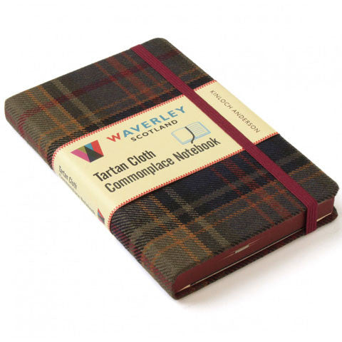 Tartan Cloth Notebook, Kinloch Anderson