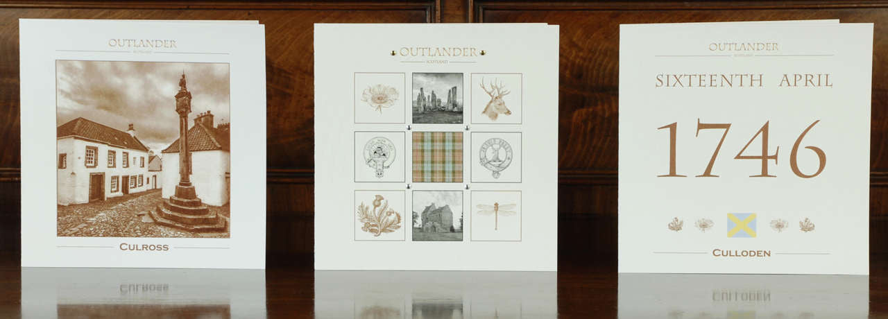 Outlander Film Locations stationery box set montage