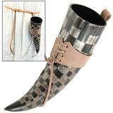 Checkered Viking Drink Horn 12-17oz