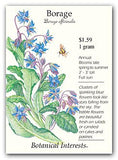 The Dirty Gardener Borage Edible Flowers, 1 Gram