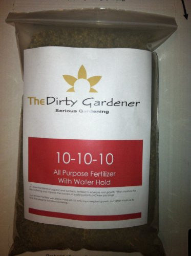 The Dirty Gardener 10-10-10 All Purpose Fertilizer with Water Hold, 2 Pounds
