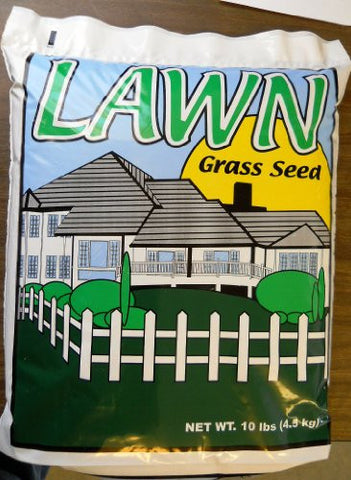10# Fancy Lawn Seed Mixture- Covers Over 1000 Square Feet for New or Overseeding Lawns.
