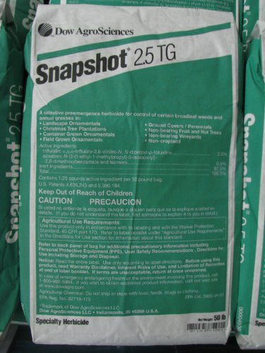 Dow Snapshot 2.5 TG Granular Pre-Emergent Herbicide, 50 Pounds