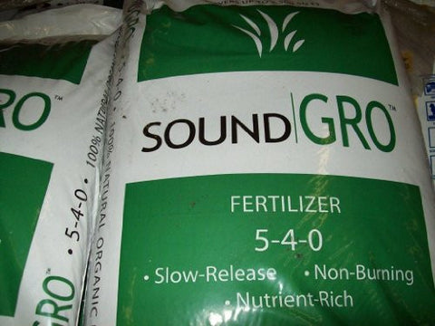 Organic Fertilizer (Sound Gro Fertilizer 6-7-0) Slow Release for Garden or Lawn.