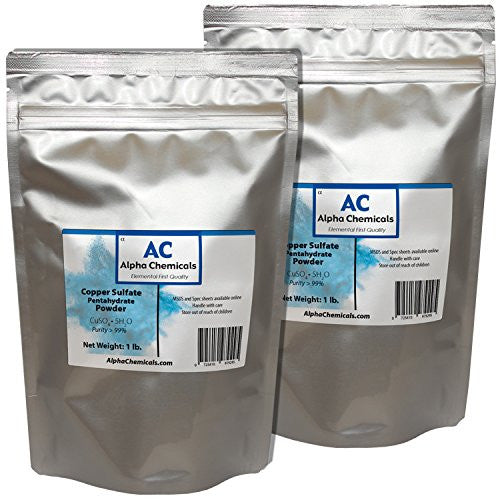 Copper Sulfate Pentahydrate Powder, 2 Pounds