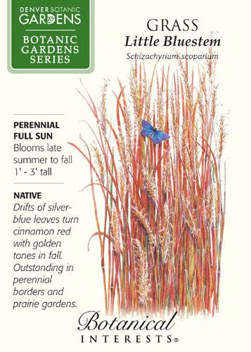 The Dirty Gardener Botanic Gardens Little Bluestem Grass, 110 Seeds