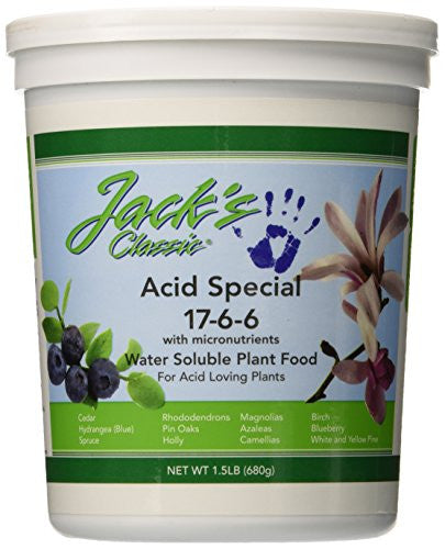 Jack's Classic Acid Special 17-6-6 Water Soluble Plant Food, 1.5 Pounds