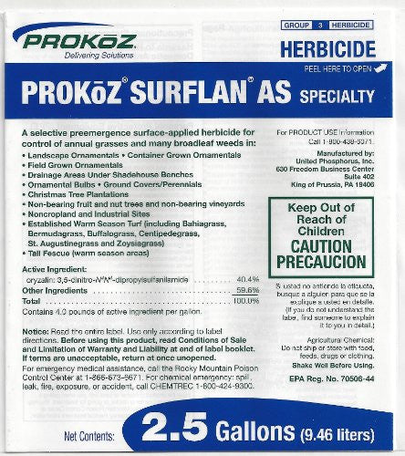 PROKoZ Surflan AS Selective Pre-Emergence Specialty Herbicide, 2.5 Gallons