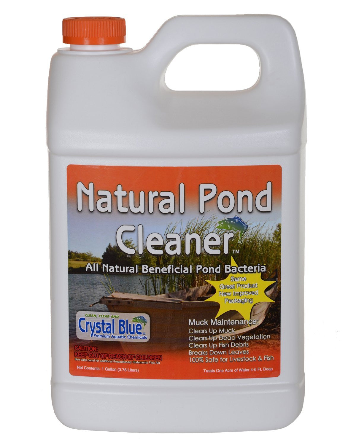 Sanco Crystal Blue Natural Pond Cleaner, 1 Gallon