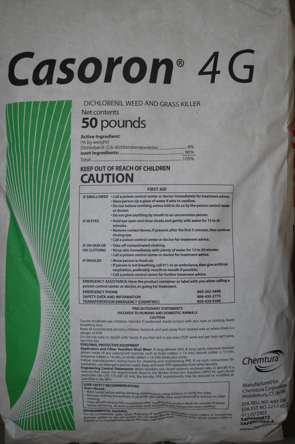 Casoron 4G Mulch Bed Weed Inhibitor, 50 Pounds