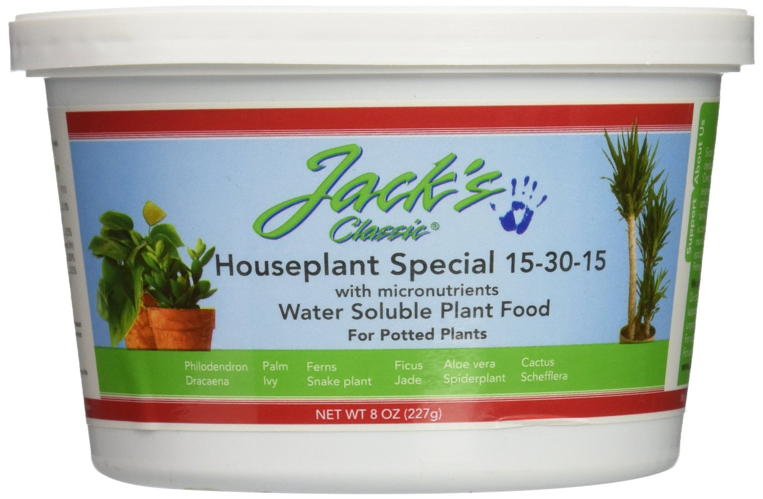 Jack's Classic Houseplant Special 15-30-15 Water Soluble Plant Food, 8 Ounces