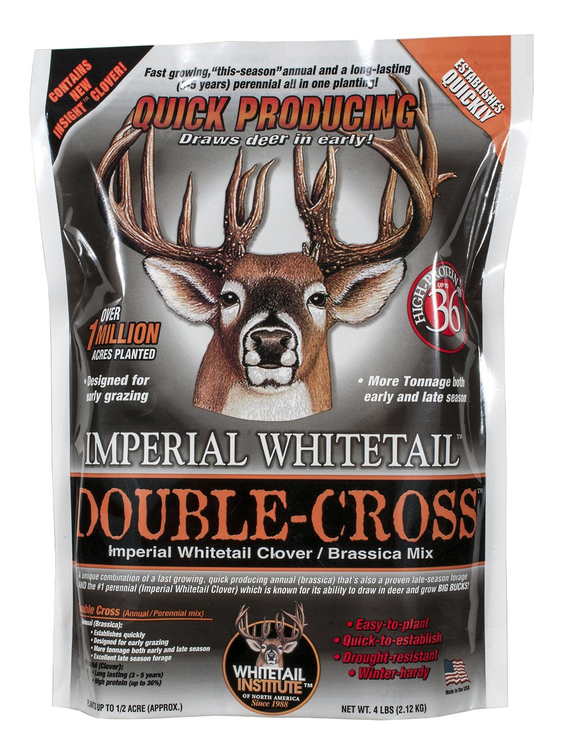 Whitetail Institute 18 Pounds Imperial Whitetail Double-Cross Clover/Brassica Mix