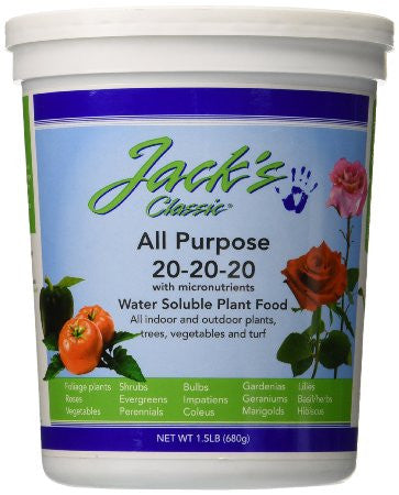 Jack's Classic All Purpose 20-20-20 Water Soluble Plant Food