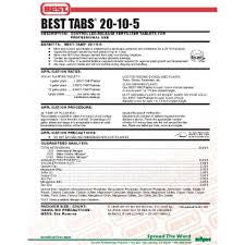 Plant Tabs 20-10-5 case of 500- 21 Gram Fertilizer Tablets.