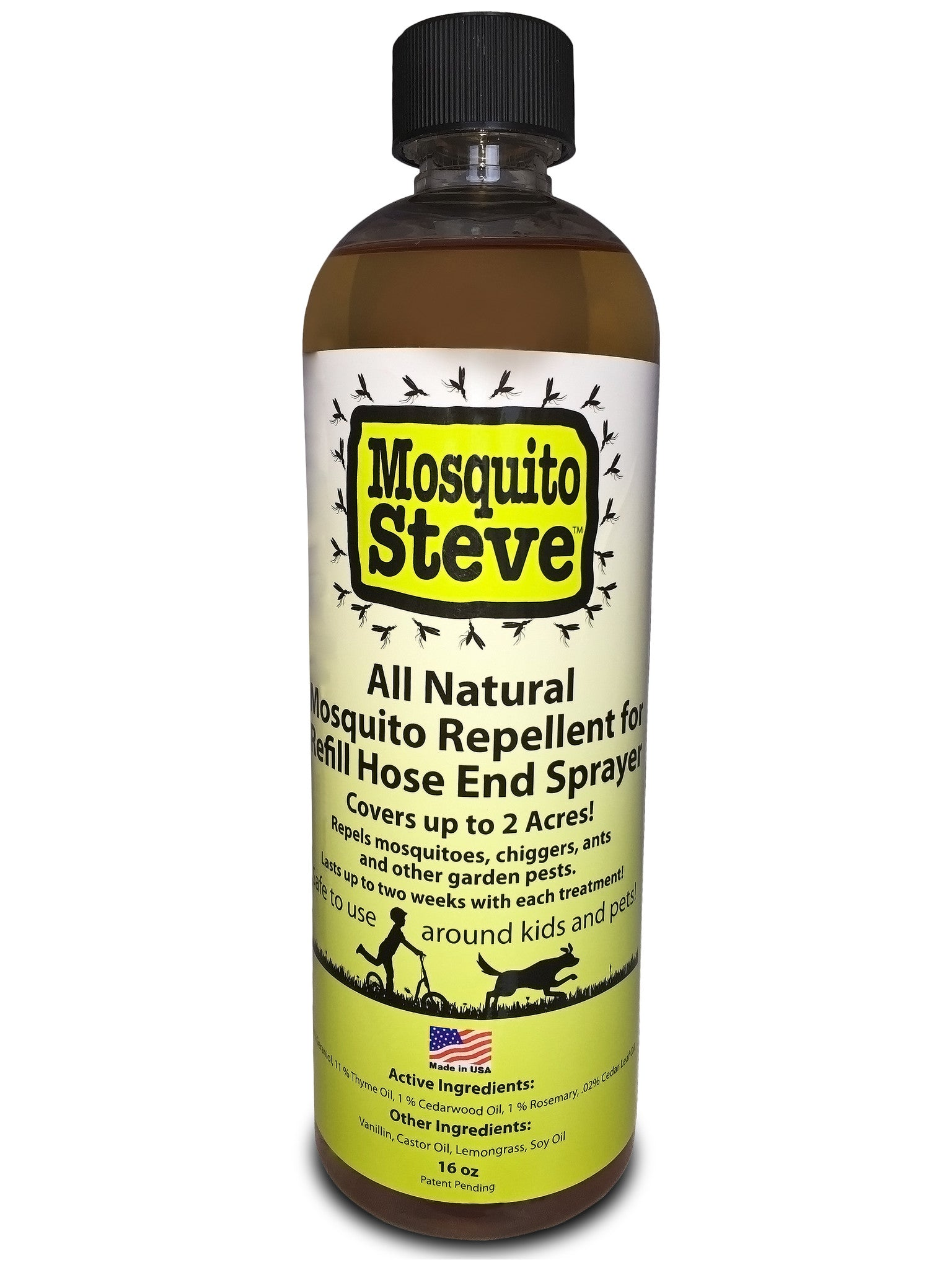 Concentrated Mosquito Repellant 16 OZ DIY Hose End Spray Refill Covers 2 Acres!