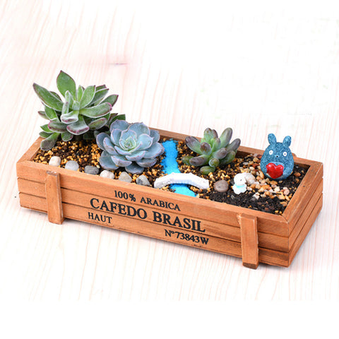 Herb Box/ Flower Pot, Micro Succulent display DIY Accessories C3
