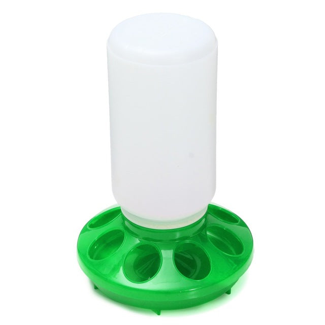 Chicken Chick Feeders in Red or Green.