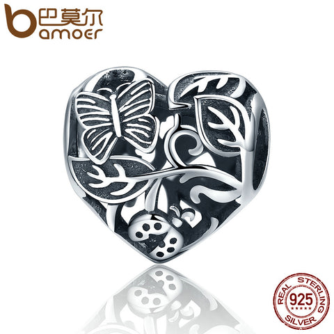 Authentic 100% 925 Sterling Silver Butterfly Garden Charm.