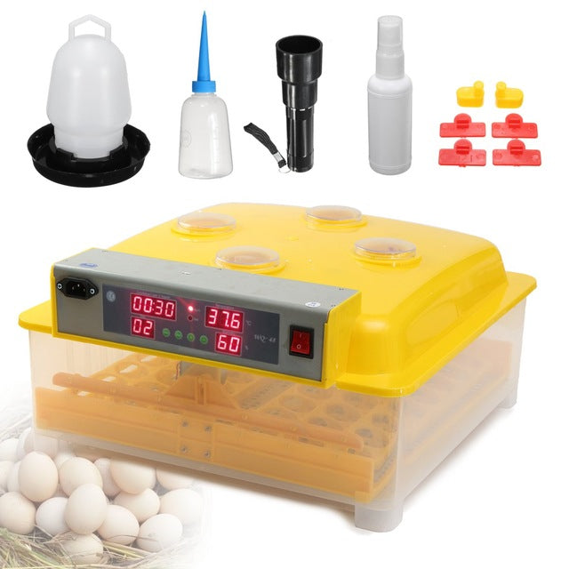 Automatic 110V 48 Eggs Incubator Digital Hatching Tools Kit Poultry Chicken Incubation Tools Accessories Temperature Control