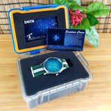 DelTat Tenmon Einstein Cross Watch & Transportation Case