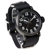 DelTat SoRa 1918 W Black Pilot Watch