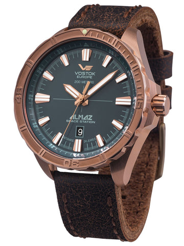 Vostok Europe ALMAZ Space Station Bronze Automatic Watch NH35-320O507