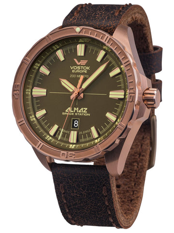 Vostok Europe ALMAZ Space Station Bronze Automatic Bronze/Brown Watch NH35-320O516
