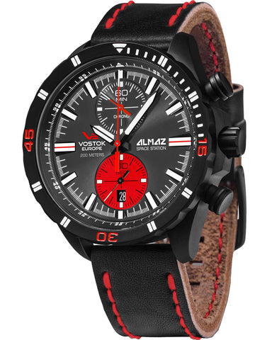 Vostok Europe ALMAZ Space Station Chrono Watch 6S11/320C260