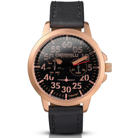 Chotovelli Airliner 3300 Retro Aviation Watch JTS3300-14
