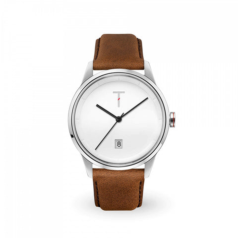 Tylor Cali Vibe Silver/Brown Watch TLAB001