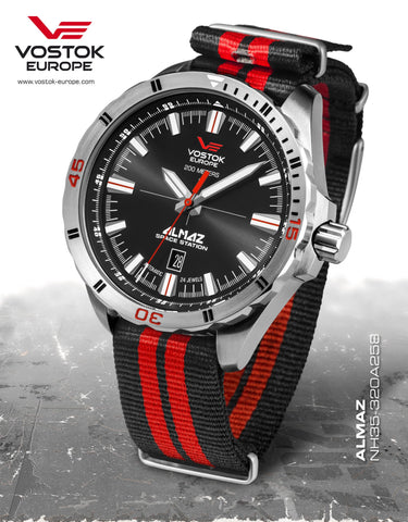 Vostok Europe ALMAZ Space Station Automatic Watch NH35-320A258N