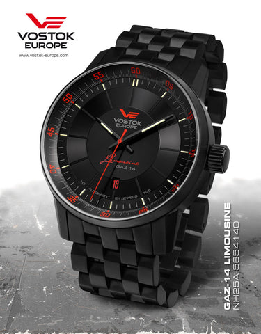 Vostok Europe Gaz-14 Limousine Tritium Watch NH35/5654140B