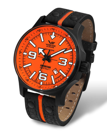 Vostok Europe Expedition NORTH POLE - 1 Automatic Orange/Black Watch NH35/5954197