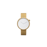 Bulbul Ore 08 Golden Matte Steel on German Made Milanese Mesh Minimalist Watch O08
