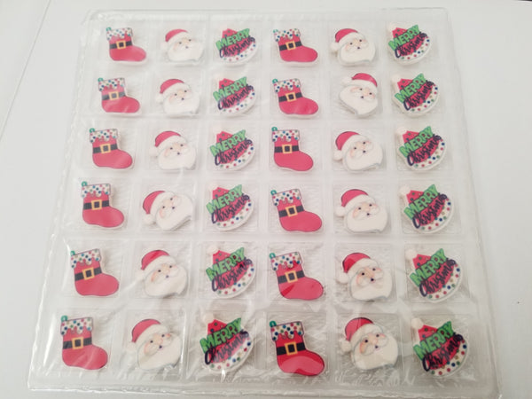 Candy Christmas cupcake toppers