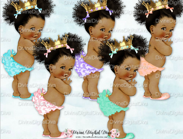 Afro Puffs Baby shower cake topper