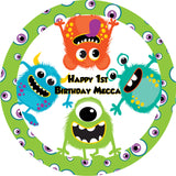 Monster cake toppers