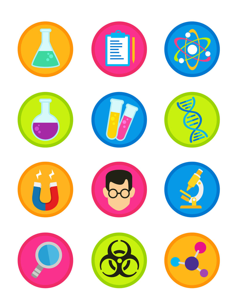 Science Party cake and cupcake topper – SugarPRINTcess