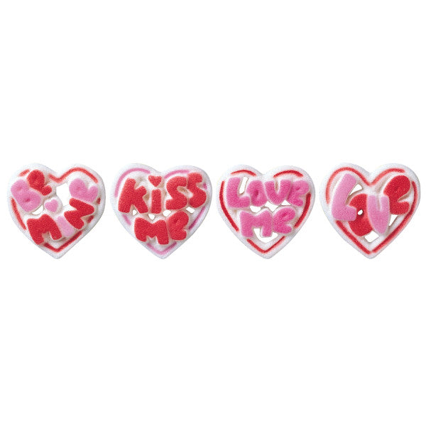Valentine talking hearts candy toppers