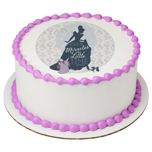 Tremendous Cinderella Cake Topper Sugarprintcess Funny Birthday Cards Online Overcheapnameinfo