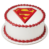 Superman edible cake topper