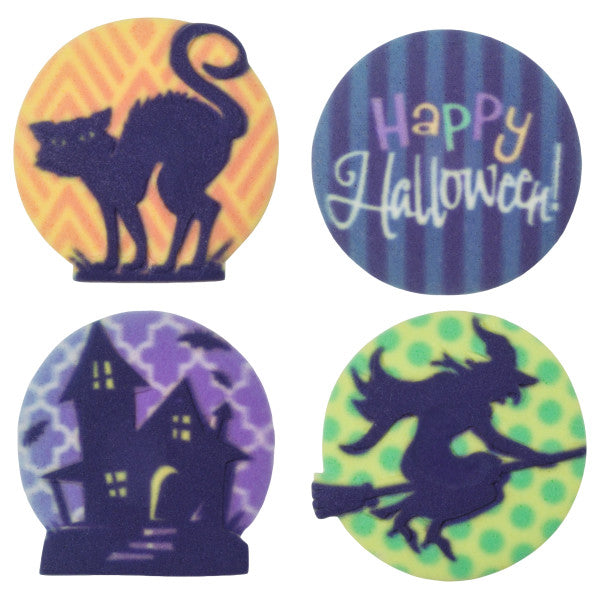 Happy Haunting edible candy toppers