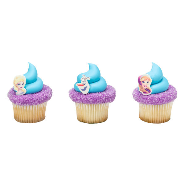 Frozen cake and cupcake toppers