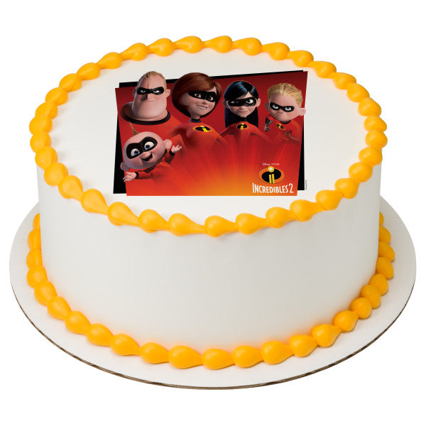 Incredibles 2 edible cake toppers
