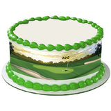 Golf edible cake and cupcake toppers