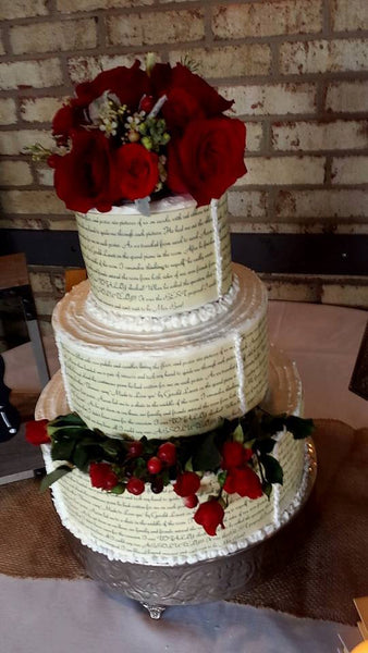 Edible Wedding cake wraps