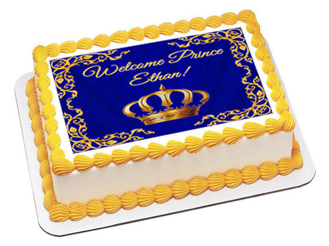 Royal Prince baby shower cake topper