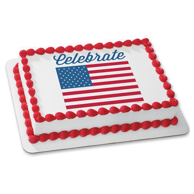 4TH OF JULY edible cake topper
