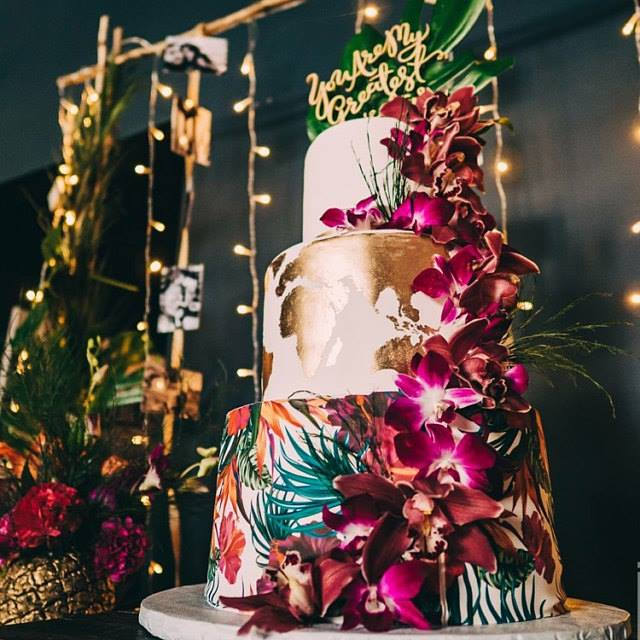 Floral cake wrap